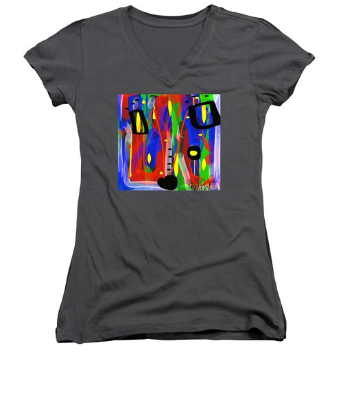 Ribbon Of Thought Women's V-Neck (Athletic Fit)