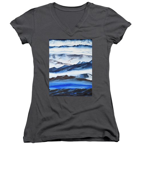 Ridgelines Women's V-Neck T-Shirt