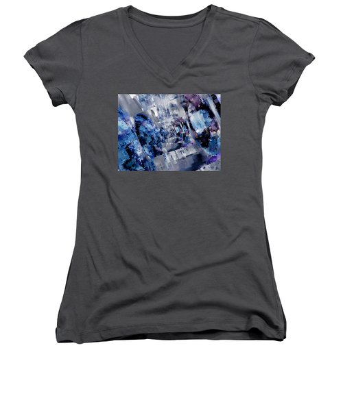 Rim Shots Women's V-Neck T-Shirt
