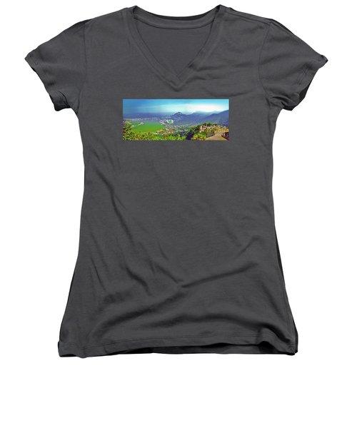 Rio De Janeiro Brazil Panorama Women's V-Neck T-Shirt