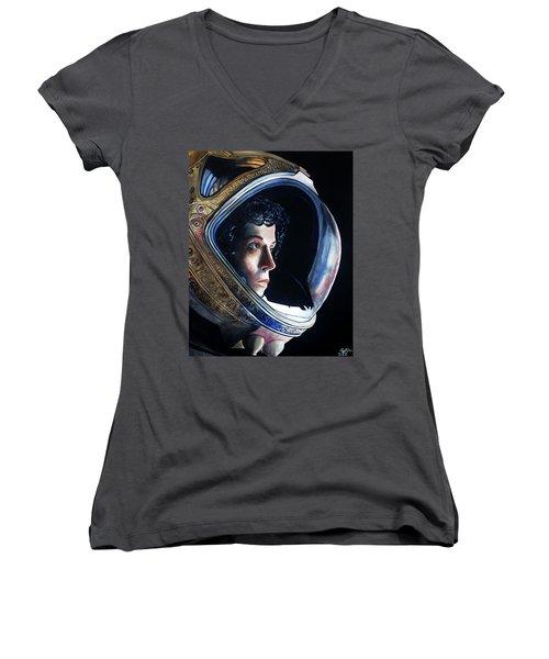 Ripley Women's V-Neck T-Shirt (Junior Cut) by Tom Carlton