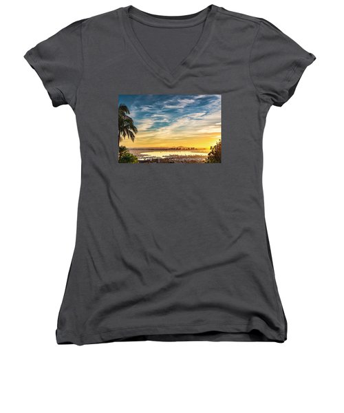 Women's V-Neck (Athletic Fit) featuring the photograph Rise And Shine by Dan McGeorge