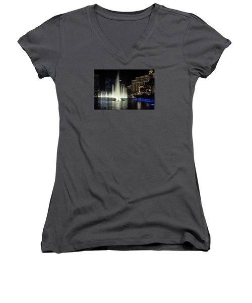 Women's V-Neck T-Shirt (Junior Cut) featuring the photograph Rise by Michael Rogers