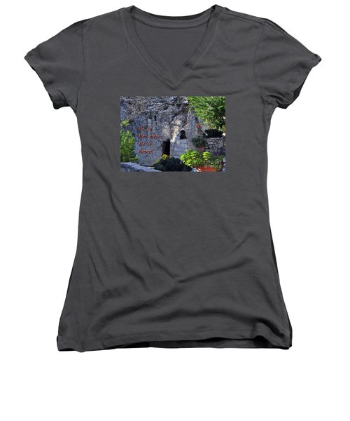 Risen Women's V-Neck T-Shirt (Junior Cut) by Lydia Holly