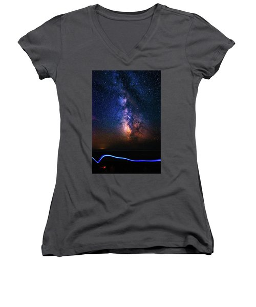 Rising From The Clouds Women's V-Neck