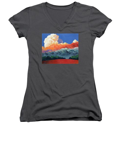 Rising High Women's V-Neck T-Shirt