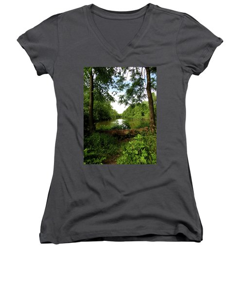 River Bend Seating Women's V-Neck T-Shirt