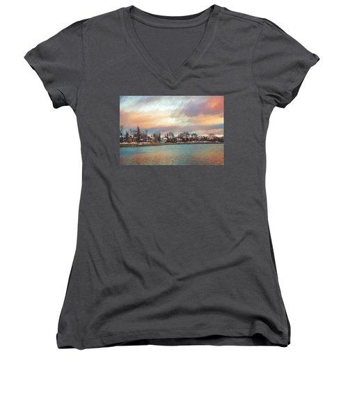 River Dream Women's V-Neck T-Shirt