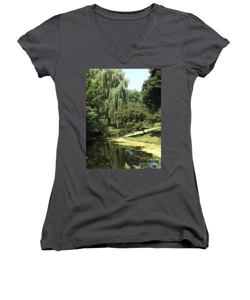 River Flows Through Women's V-Neck T-Shirt