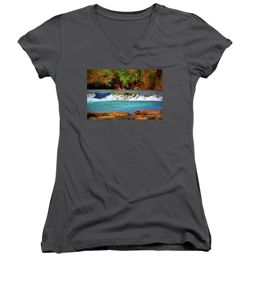 River Good Times 121217-1 Women's V-Neck (Athletic Fit)