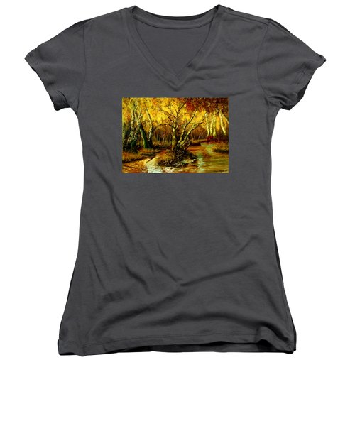 River In The Forest Women's V-Neck (Athletic Fit)