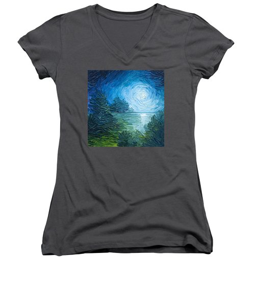River Moon Women's V-Neck T-Shirt