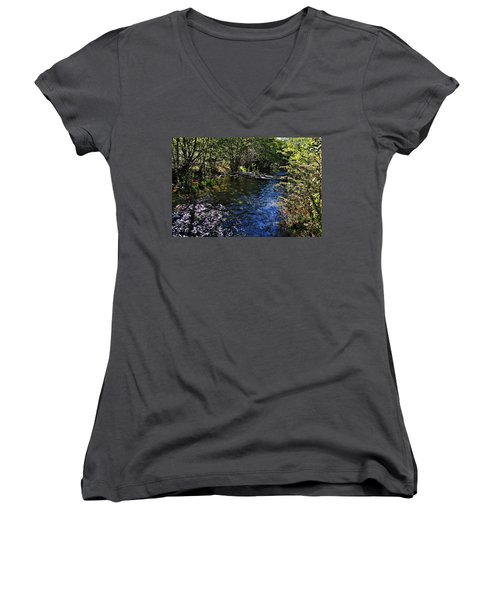 River Of Peace Women's V-Neck (Athletic Fit)