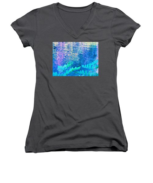 Distractions From The River Waters Women's V-Neck T-Shirt