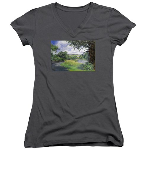 Riverside House And The Cauld Women's V-Neck (Athletic Fit)