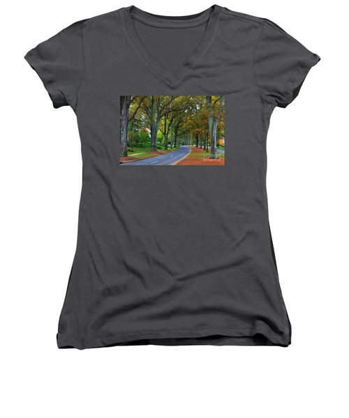 Road In Charlotte Women's V-Neck (Athletic Fit)
