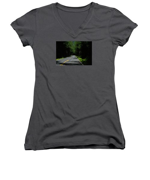 Road Leading To Where? Women's V-Neck T-Shirt