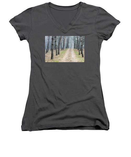Road To Pine Forest Women's V-Neck