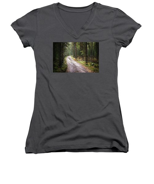 Road To The Light Women's V-Neck T-Shirt