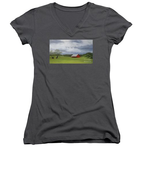 Road To Yosemite Women's V-Neck (Athletic Fit)