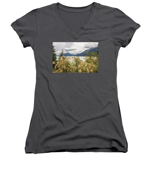 Road With A View Women's V-Neck (Athletic Fit)