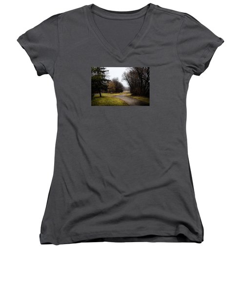 Roads To Nowhere Women's V-Neck (Athletic Fit)