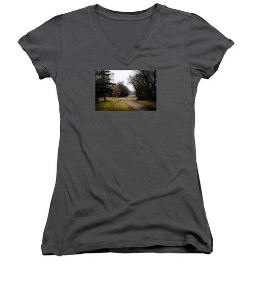 Roads To Nowhere Women's V-Neck T-Shirt