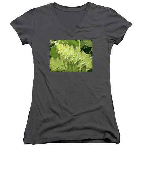 Roadside Fern 2 - Women's V-Neck T-Shirt