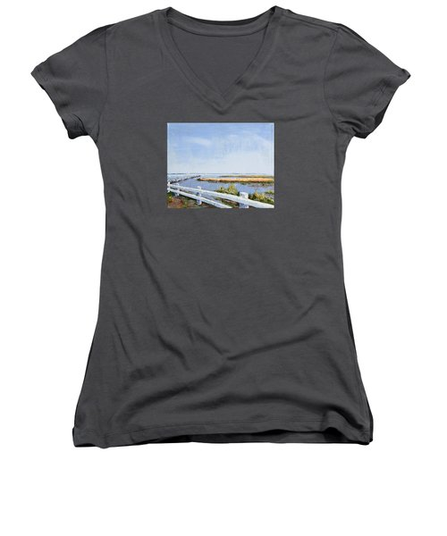 Roadside P-town Women's V-Neck T-Shirt