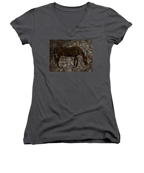 Roan Stallion Women's V-Neck