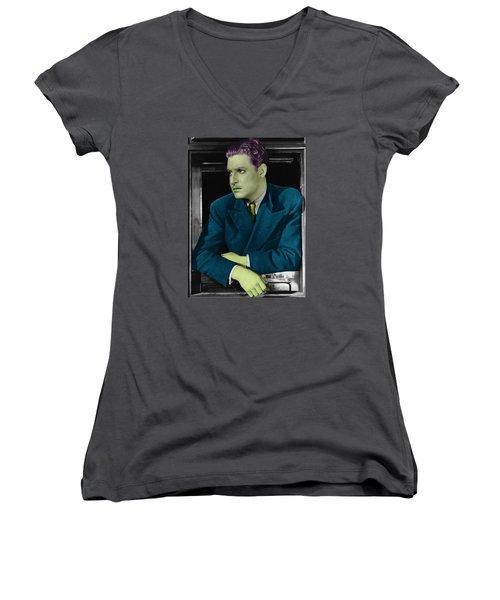 Robert Donat Women's V-Neck T-Shirt (Junior Cut) by Emme Pons