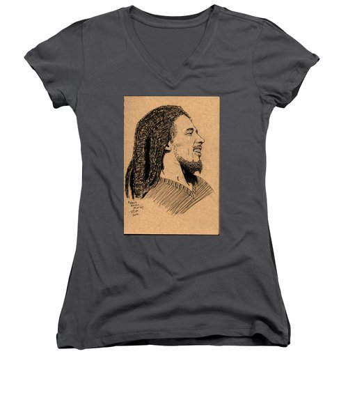 Robert Nesta Marley Women's V-Neck T-Shirt