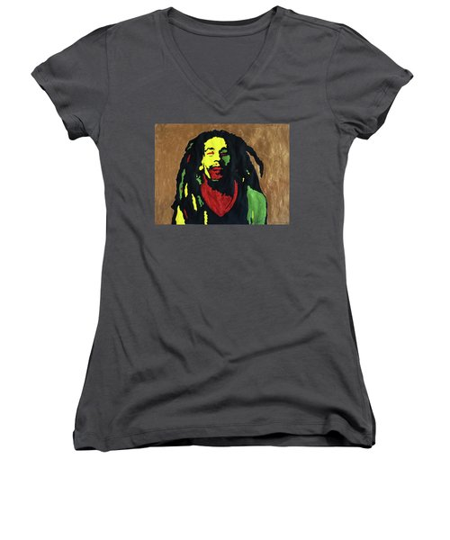 Robert Nesta Marley Women's V-Neck T-Shirt