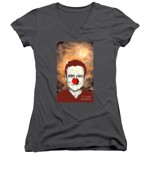 Robin Williams 2 Women's V-Neck T-Shirt