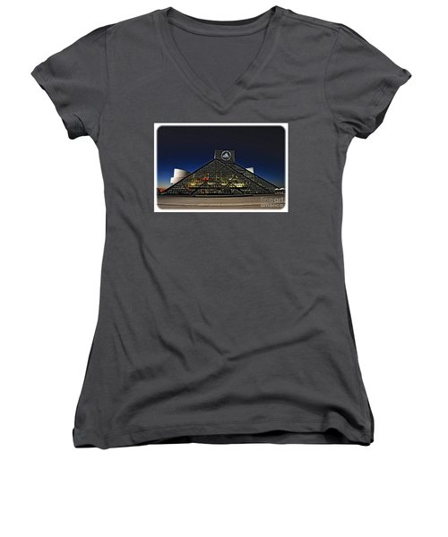 Rock And Roll Hall Of Fame - Cleveland Ohio - 5 Women's V-Neck