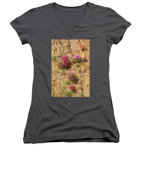 Rock Cutting 1 Women's V-Neck T-Shirt (Junior Cut)