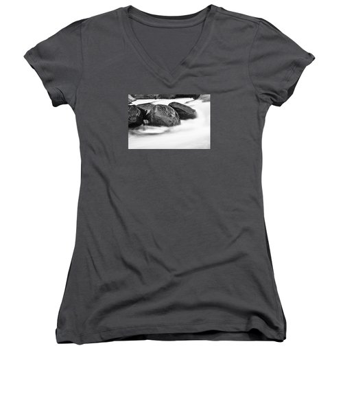 Women's V-Neck T-Shirt (Junior Cut) featuring the photograph Rock Solid by Larry Ricker