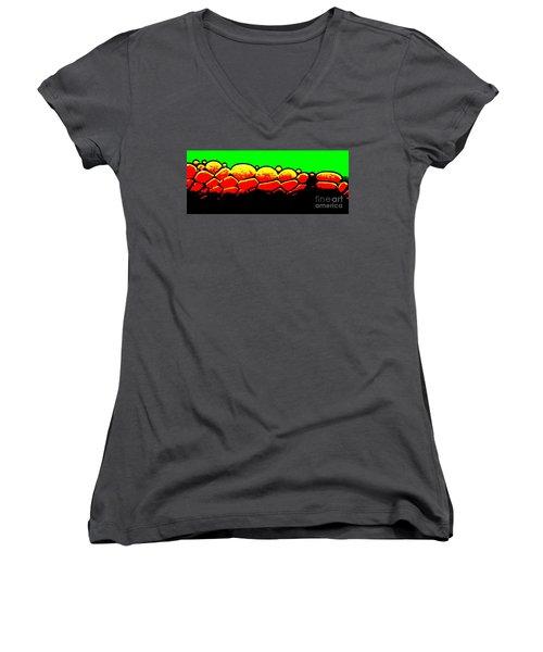 Rock Wall Women's V-Neck T-Shirt (Junior Cut) by Tim Townsend