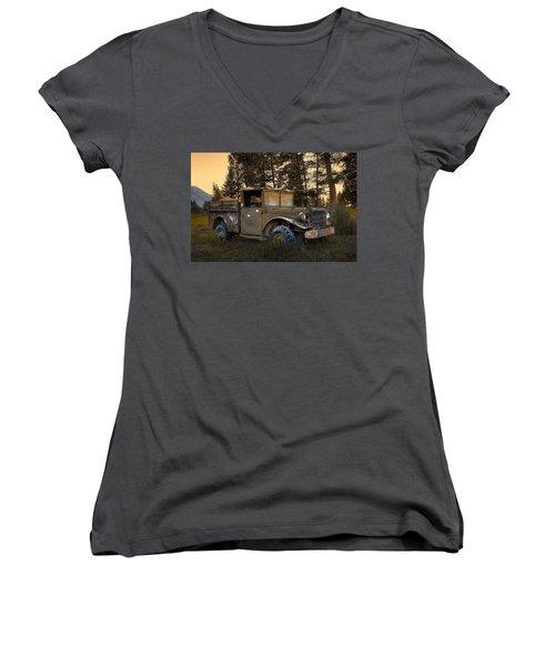 Rockies Transport Women's V-Neck T-Shirt