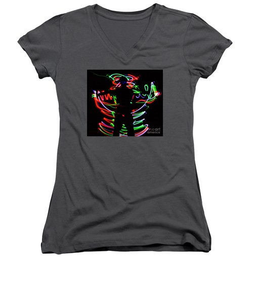 Rockin' In The Dead Of Night Women's V-Neck T-Shirt