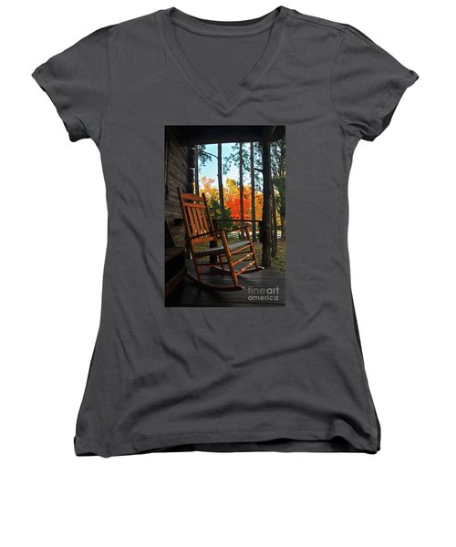 Rocking In Fall Women's V-Neck (Athletic Fit)
