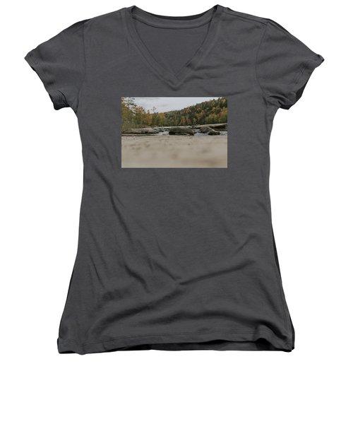 Rocks On Cumberland River Women's V-Neck