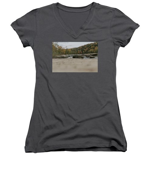 Rocks On Cumberland River Women's V-Neck