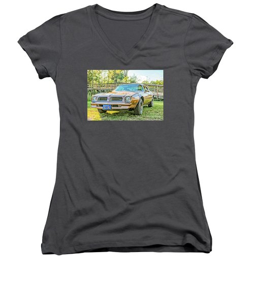 Women's V-Neck T-Shirt (Junior Cut) featuring the photograph Rocky Front by Brian Wright