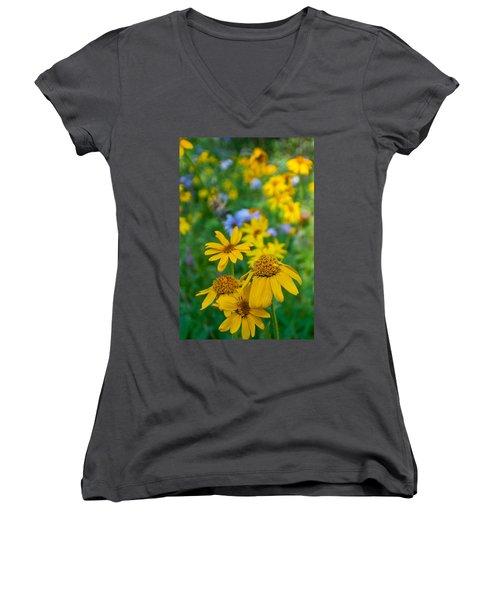 Rocky Mountain Wildflowers Women's V-Neck