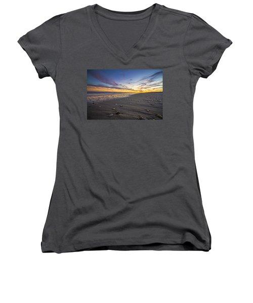 Rocky Roger's Beach Sunset Women's V-Neck T-Shirt