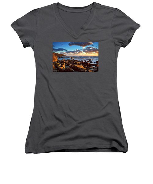 Rocky Surf Conditions Women's V-Neck