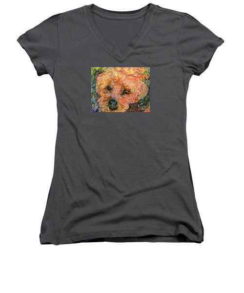 Rocky The Dog Women's V-Neck T-Shirt