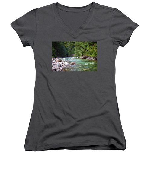Rocky Waters In The North Cascades Landscape Photography By Omas Women's V-Neck