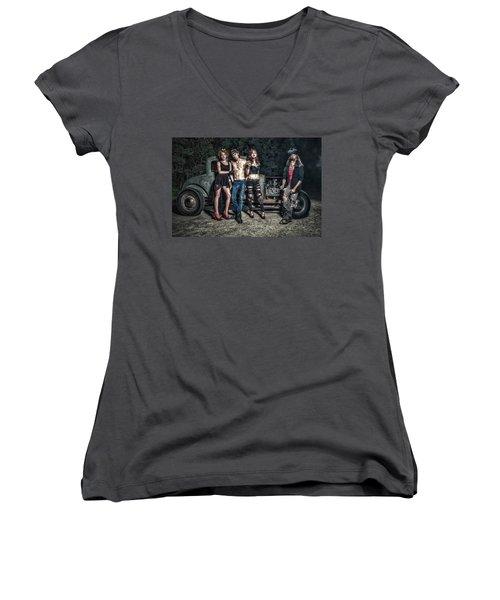 Rodders #6 Women's V-Neck T-Shirt